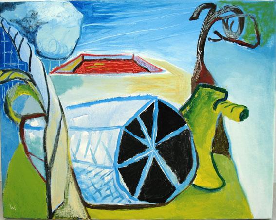 BRADD WESTMORELAND  Blue Landscape  2007 Oil on canvas 142 ×122 cm