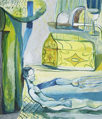 BRADD WESTMORELAND  Blue Dreamer 2007 oil on canvas 142 ×122 cm