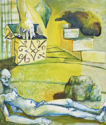 BRADD WESTMORELAND  Blue Nude I 2007 oil on canvas 142 ×122 cm