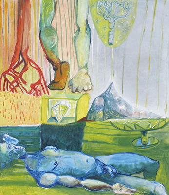 BRADD WESTMORELAND  Blue Nude II  2007  oil on canvas 152.5 ×132 cm