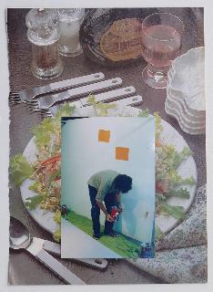 GEOFF NEWTON  Collage 1  2007 photographs on found paper 29 ×21 cm