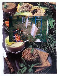 GEOFF NEWTON  Collage 4  2007 photographs on found paper 29 × 21 cm