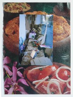 GEOFF NEWTON  Collage 5  2007 photographs on found paper 29 × 21 cm