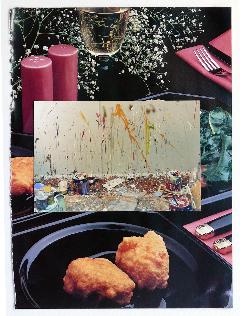 GEOFF NEWTON  Collage 7  2007 photographs on found paper 29 × 21 cm