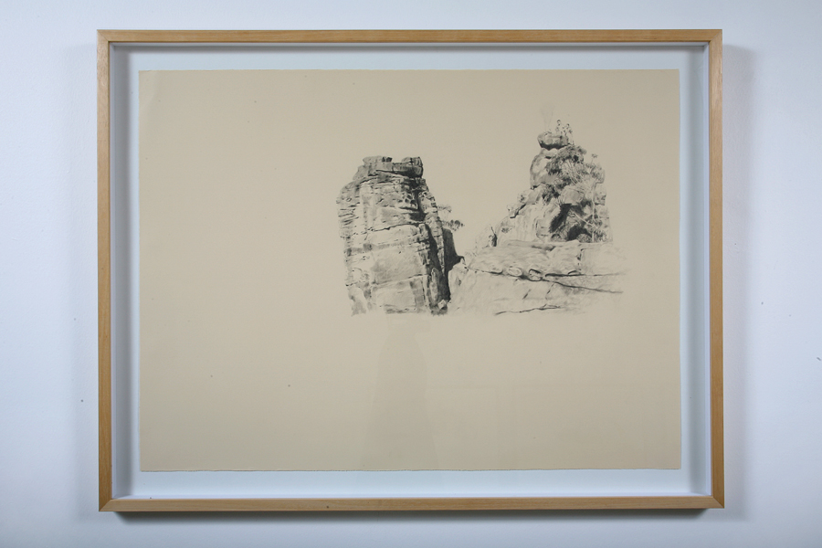 ANNA KRISTENSEN  Campfire at Ruined Castle  2008 pencil on paper 66 × 86 cm