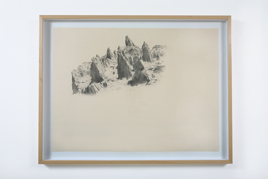 ANNA KRISTENSEN  Walk through Metamorphic Rocks  2008 pencil on paper 66 × 86 cm