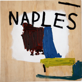 TAHI MOORE  Naples    2006 Oil on wood 59 × 61 cm