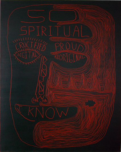 TREVELYAN CLAY  So Spiritual  2006 Oil on linen 150 × 120 cm