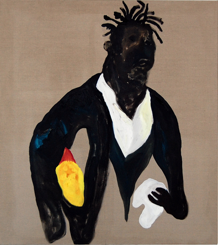 DARREN MCDONALD  Basquiat (Duck Man)  2006 Oil on linen 130 × 120 cm