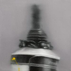 BRETT EAST  Untitled Black Study I 2009  oil on canvas 20 ×20 cm