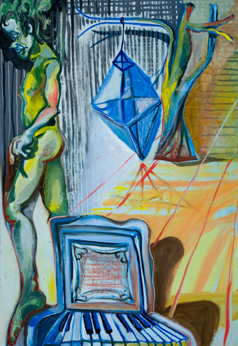 BRADD WESTOMORELAND  The Piano Played Diamond Dreams  2009  oil on canvas 112 × 162 cm