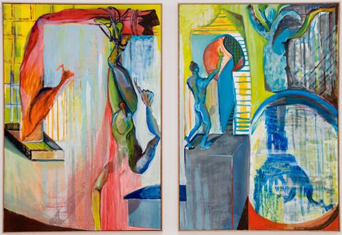 BRADD WESTOMORELAND  Diptych (Hanging Man) 2009 oil on canvas 255 ×172 cm
