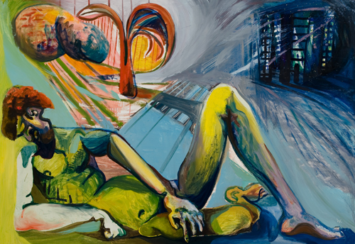 BRADD WESTOMORELAND  Reclining Nude on Cities Edge  2009  oil on canvas 172 × 120 cm