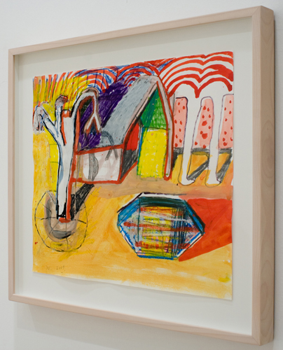 BRADD WESTOMORELAND  The Yellow Garden  2009 mixed media on paper 39 × 33 cm