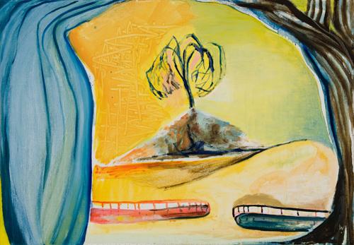BRADD WESTOMORELAND  Dry Landscape  2007 oil on canvas 102 ×71 cm