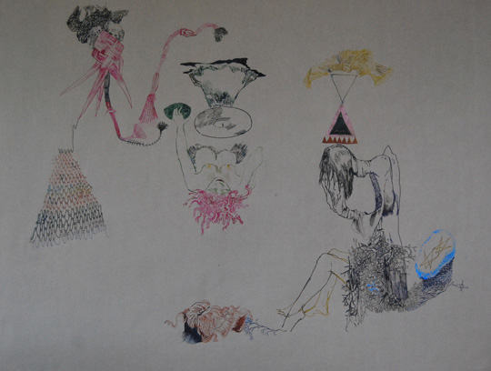 CLARE MILLEDGE  Double Lucky Palindrome  2008 ink on paper 48 × 62.5 cm