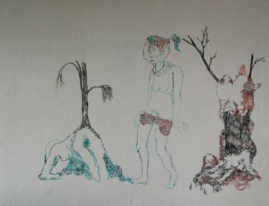 CLARE MILLEDGE  Looking for Bush  2008 ink on paper 48 × 62.5 cm