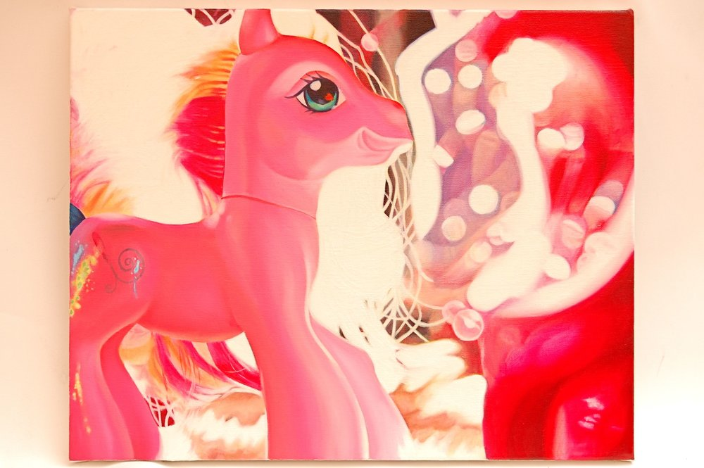 MISHKA BOROWSKI  Dreamt I had a daughter magnificent as a horse 2009  oil on canvas 51 ×40 cm