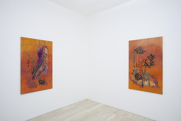 Installation view of Melody Willis's paintings