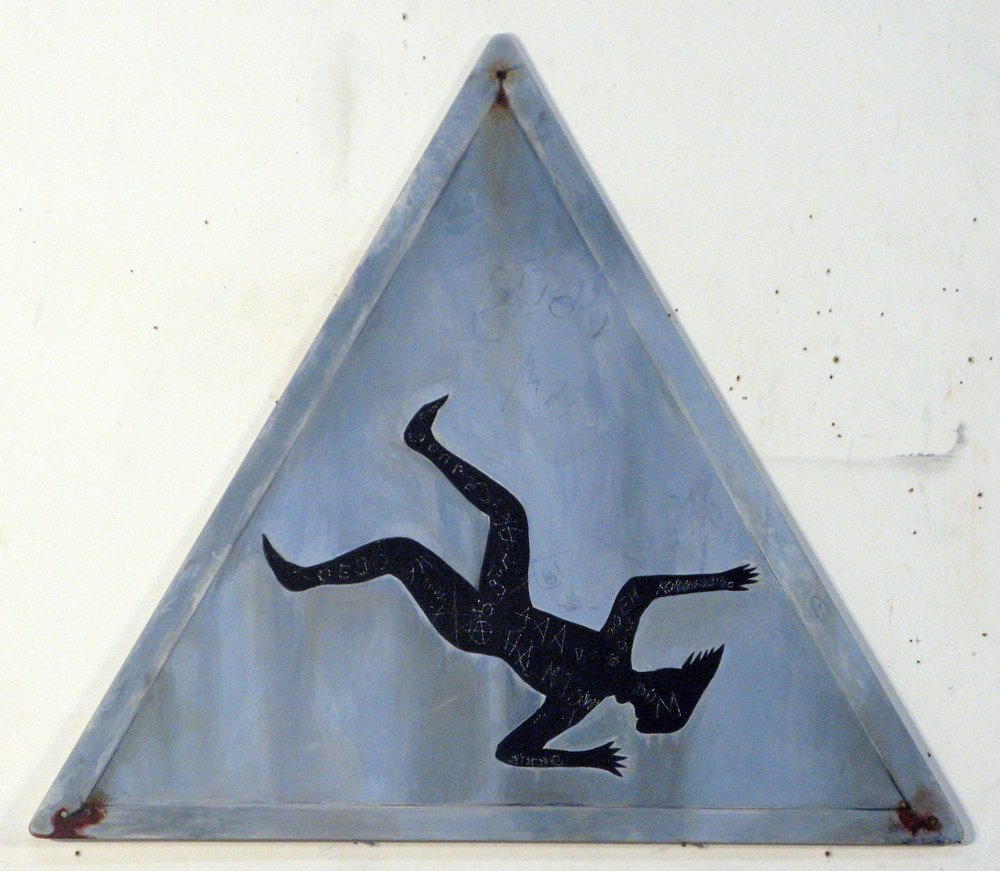 ADAM NORTON  Alien Walking  2010 acrylic on board 60 ×70 cm