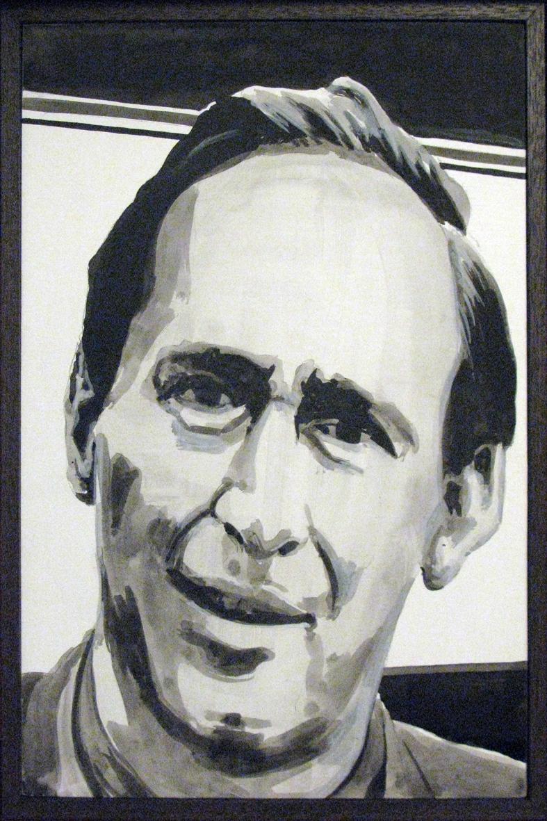 ADAM NORTON  J.G. Ballard  2010 acrylic on board 30 ×20 cm