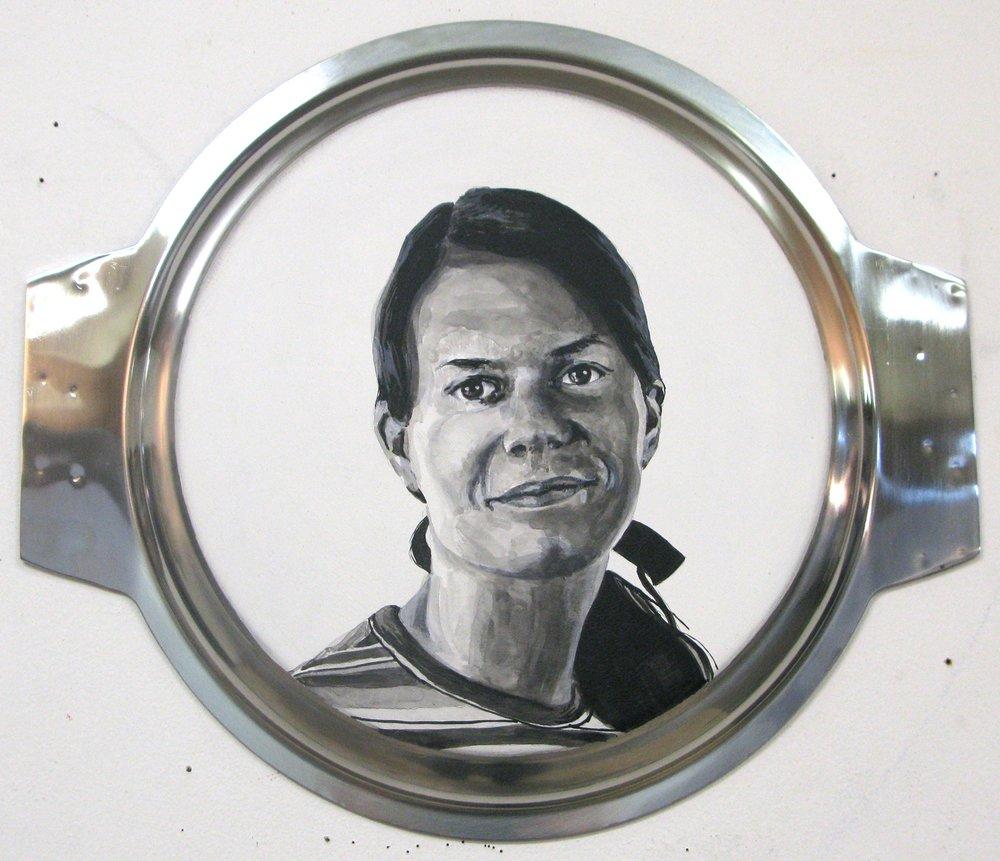 ADAM NORTON  Jill Tarter 2010 acrylic on steel 31 ×36 cm