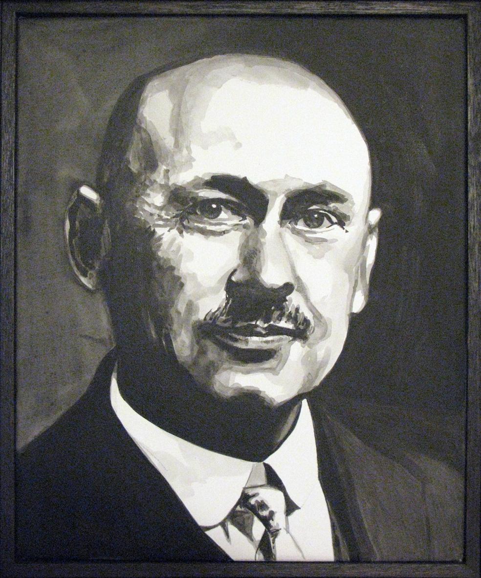 ADAM NORTON  Robert Goddard  2010 acrylic on canvas 30 ×25 cm