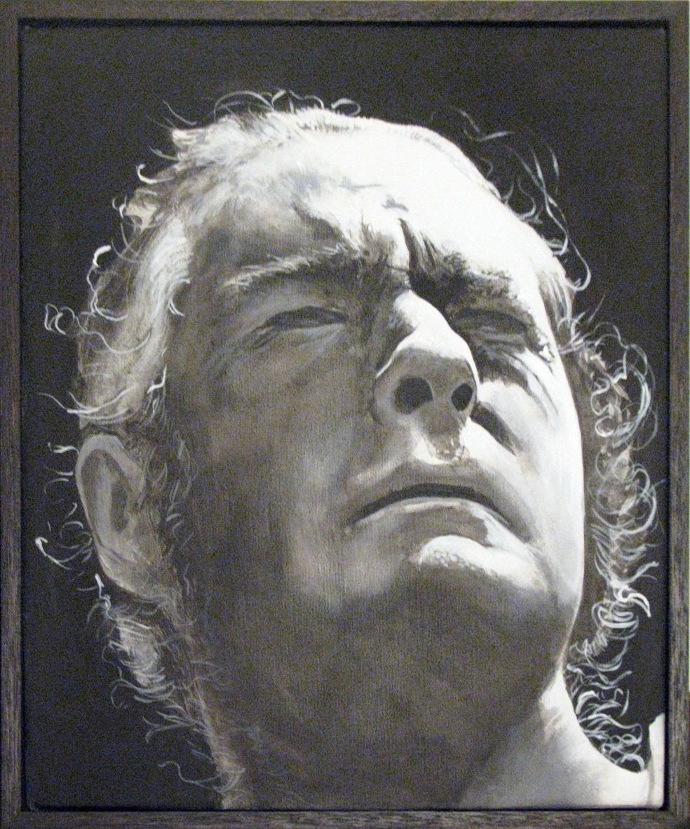 ADAM NORTON  Timothy Leary  2010 acrylic on canvas 30 × 25 cm
