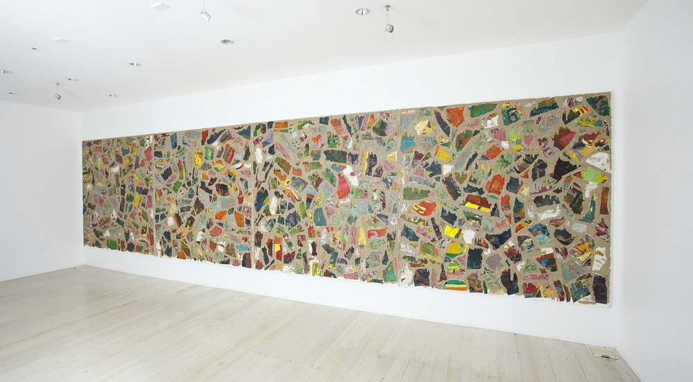 WHAT  Ritual Performance of the Ancestors  1991 – 2010                                                    Oil and glue on canvas   213 × 852 cm