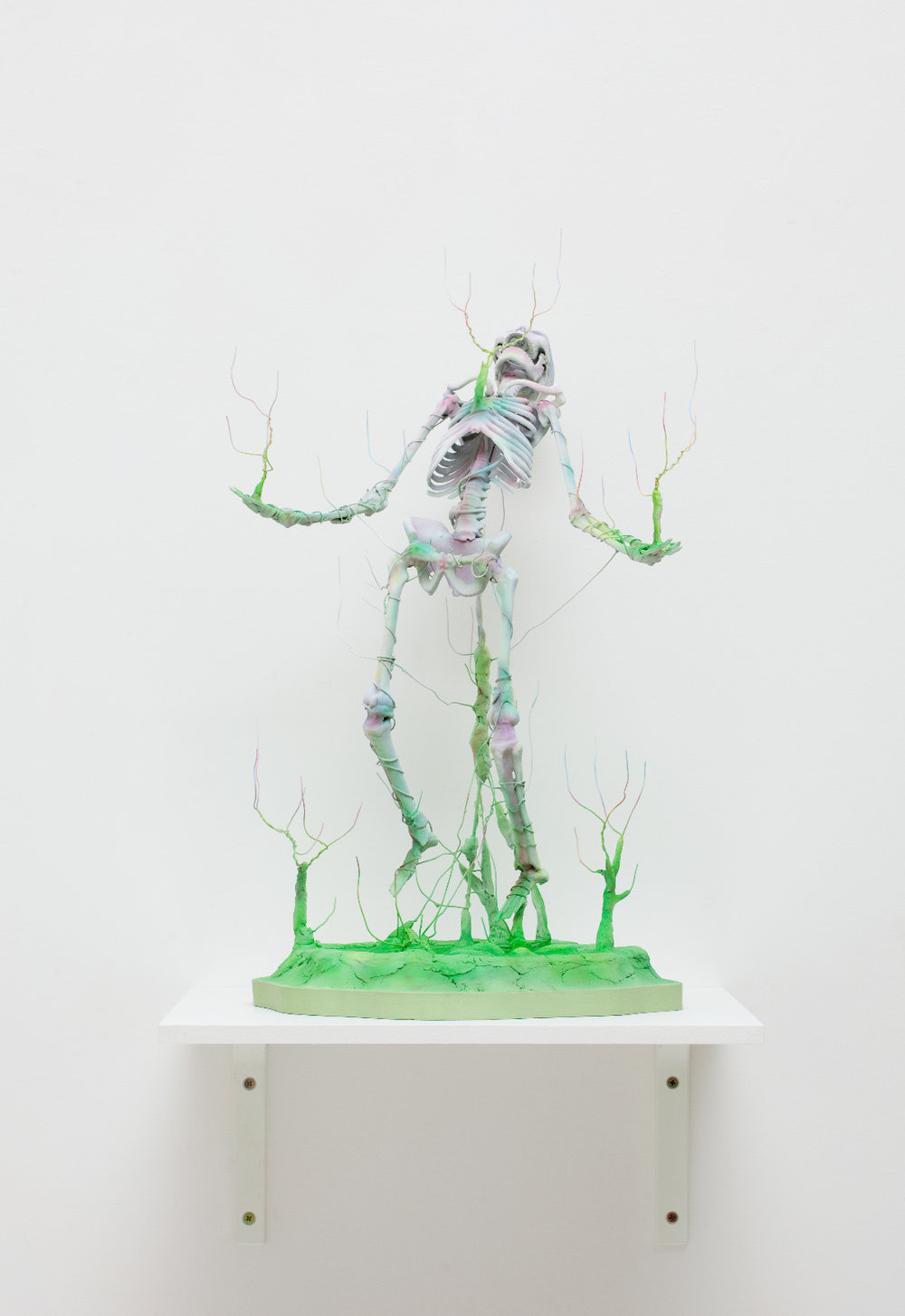 ROBIN HUNGERFORD  Unravelled  2011 plastic, poylmer clay, wire, fibreglass Height 49 cm