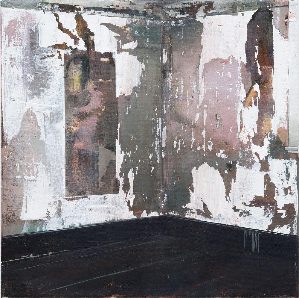 DAVID RALPH  Undertone 2018 oil on canvas 40 × 40 cm