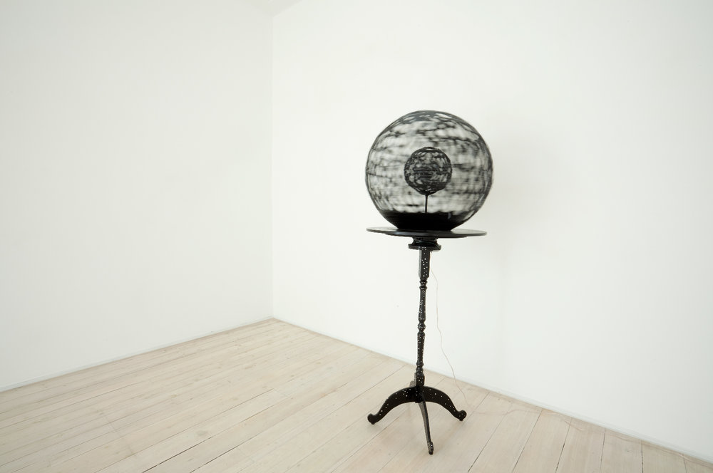 ROBIN HUNGERFORD  Hard-Core Soft-Cell  2011 plastic, paper, wood, motor, fibreglass, paint Height 49 cm