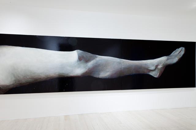 WHAT  Helen's Leg  2011  oil on linen 160 ×660 cm