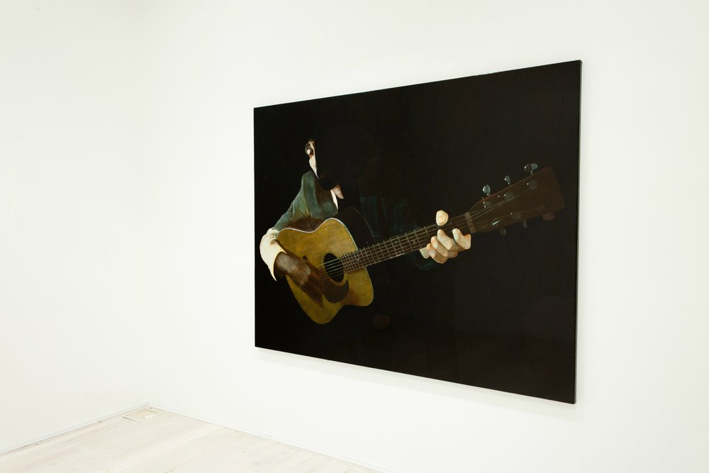 WHAT  Gareth Liddiard  2011 (INSTALLATION) oil on canvas on board 168 ×218 cm