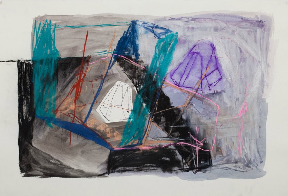 BELEM LETT  A destination for the new millennium  2010 mixed media on paper 120 × 75 cm
