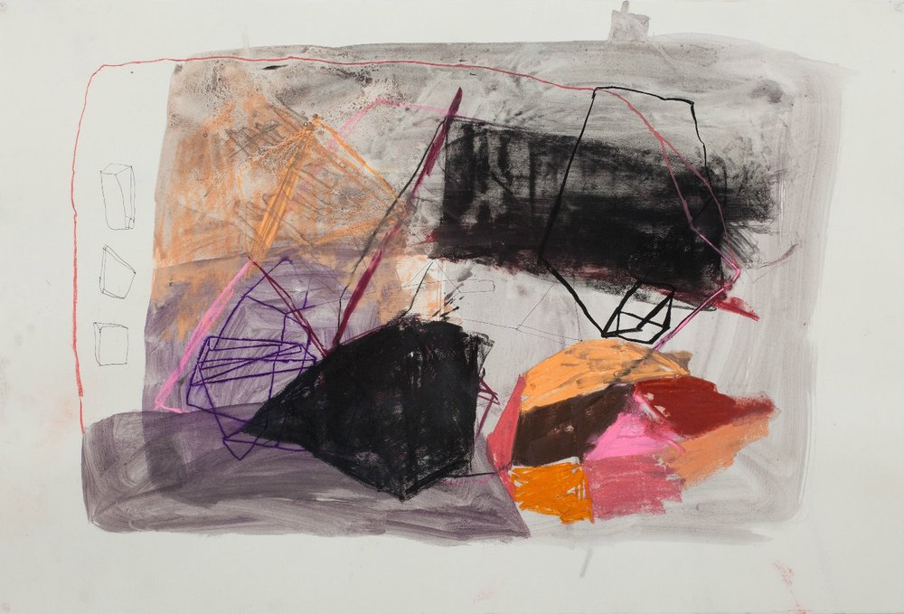 BELEM LETT T here's no place like it  2010 mixed media on paper 120 × 75 cm