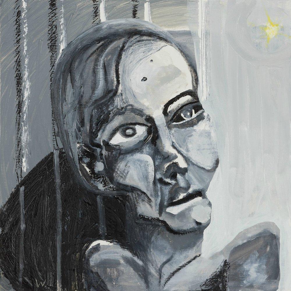 BRADD WESTMORELAND  Grey Portrait  2009 oil on canvas 38 ×38 cm