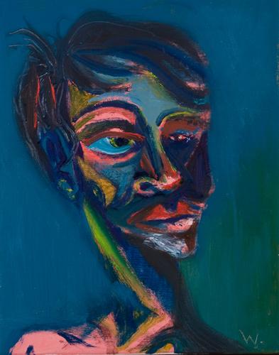 BRADD WESTMORELAND  Small Blue Portrait  2009 oil on canvas 20.5 ×25.5 cm