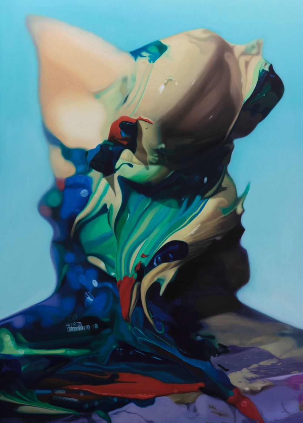 BRETT EAST  Seeking to gain access to an immaterial reality beyond the limits of human vision  2011  oil on linen 213 × 152 cm