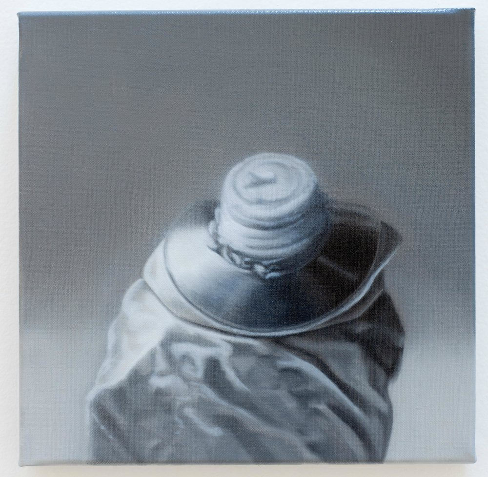 BRETT EAST  Monochrome Study 1  2010  oil on linen  20 × 20 cm