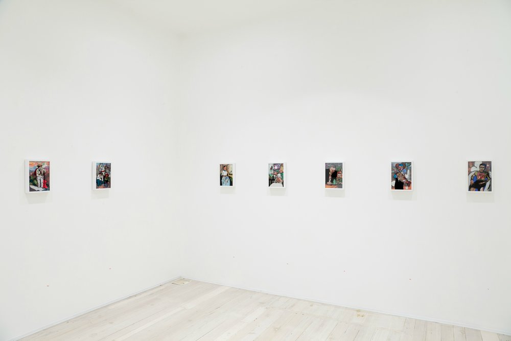 Installation view of Rebecca Pearson's paintings