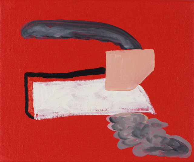 MATTHEW HOPKINS  Exhale  2012 acrylic and oil on canvas  25 × 30 cm