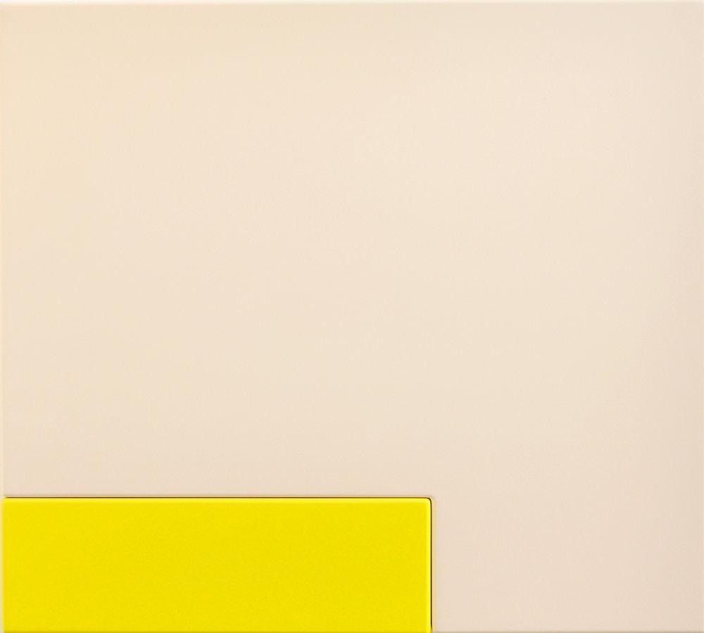 SUZIE IDIENS  Flesh Yellow 2012 MDF, Polyurethane 69 ×77 ×7 cm