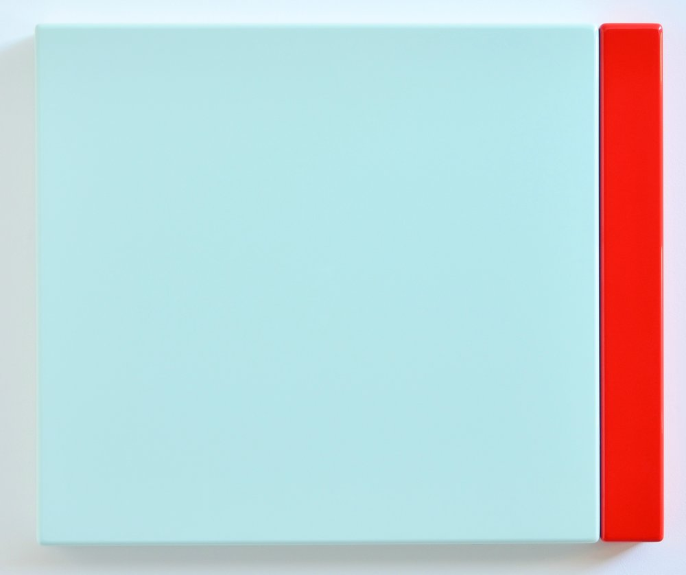 SUZIE IDIENS  Green Red 2012 MDF, Polyurethane 49 ×59 ×5 cm