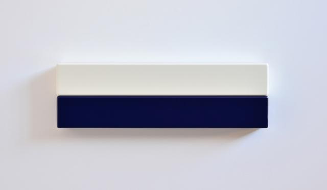SUZIE IDIENS  White Deep Blue 2012 MDF, Polyurethane 18 ×59 ×7cm