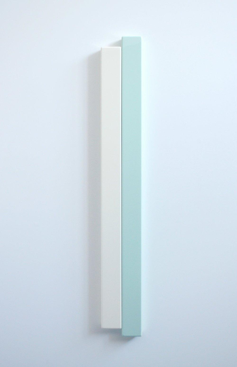 SUZIE IDIENS  Green White  2012 MDF, Polyurethane 118 ×16 ×5 cm