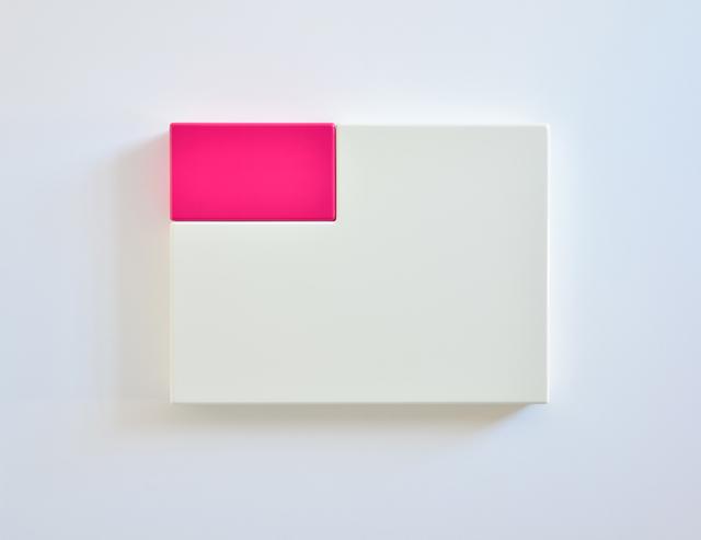 SUZIE IDIENS  White Pink 2012 MDF, Polyurethane 46 ×62 ×8 cm