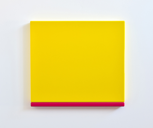SUZIE IDIENS  Yellow Pink 2012 MDF, Polyurethane 61 ×67 ×5 cm
