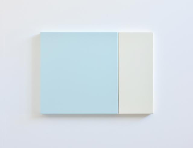 SUZIE IDIENS  Blue White 2010 MDF, Polyurethane 49 ×67 × 5 cm