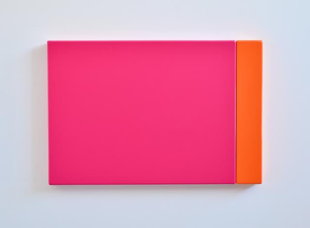 SUZIE IDIENS  Pink Orange 2012 MDF, Polyurethane 49 ×73 ×5cm